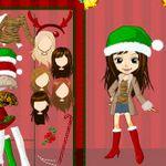 Cute Girl Christmas Dress Up