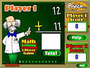 Math Adding Two Player Game